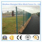 Recinzione verde rivestita della rete fissa della rete metallica del coniglio del pollo del PVC