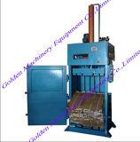 Papel usado/fibra/algodón usado hidráulico vertical/máquina plástica de la prensa