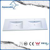 Красивейшее новое Style&Nbsp; Белое Polymarble&Nbsp; Верхняя ванная комната Vanity&Nbsp; Тазик