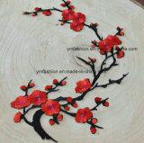 Fleur courante de broderie d'accessoires de vêtement de fleur de Plun