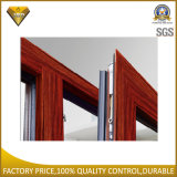 Finestra di alluminio della stoffa per tendine per la parete d'angolo con la rottura termica (75 serie)