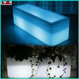Balde de gelo com luzes LED Banheira de gelo de plástico