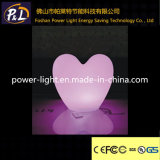 Lâmpada plástica iluminada recarregável do coração do diodo emissor de luz do RGB Chaniging