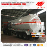 3 Axles Tare Weight 6800kg Aluminum Alloy Fuel Tanker Semi Trailer