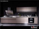 Neuer Entwurf des hohen glatten kundenspezifischen Lack-Küche-Schrankes