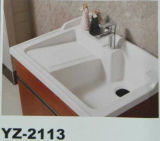多層純木の浴室の洗浄のキャビネットの陶磁器の浴室用キャビネット