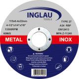 Rodas de moedura do centro deprimido para o metal 116*6.4*22.2mm
