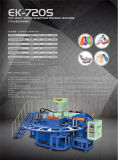 자동적인 PVC 하나 색깔 Airblowing 및 묵 단화 주입 기계