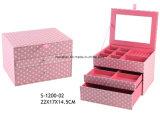 Schmucksache-Kasten-Schmucksache-Kasten-kosmetischer Kasten-Schönheits-Falltrinket-Kasten