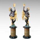 Groot Beeldhouwwerk tpls-037/038 van het Brons van het Meisje van de Jongen van Foison van het Standbeeld van het Cijfer