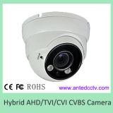 Varifocalレンズが付いているハイブリッドHDの保安用カメラのAhd Tvi Cviの金属のドームの点のアレイIRのカメラ