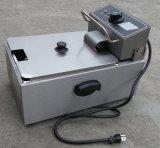 6Lはタンクステンレス鋼の電気ポテトチップの深い脂肪質のフライヤーを選抜する