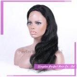 Parrucca piena naturale all'ingrosso della parte anteriore del merletto dei capelli umani della linea sottile