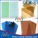 파랗거나 녹색 또는 청동색 또는 회색 색 플레이트 플로트 유리 공장