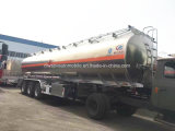 rimorchio dell'autocisterna della lega di alluminio 55000L 50 tonnellate del combustibile dell'autocisterna di prezzi del rimorchio