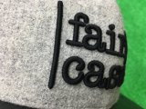 Qualquer logotipo Custom Fashion Leather e Wool Snapback Caps