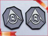 Badge en caoutchouc souple en caoutchouc embossé en PVC Badge