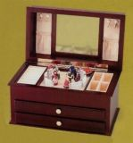 Boitier en bois avec miroir / tiroir en papier avec miroir