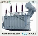 transformador de potencia de la Ninguno-Excitación del Tres-Enrollamiento de 75mva que golpea ligeramente 110kv