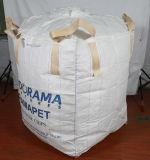 بيضاء [بّ] [جومبو] حقيبة مع إنفتال مزدوجة