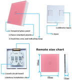Potere senza fili dell'interruttore di tocco di telecomando di modo del gruppo 3 dell'interruttore 3 di tocco chiaro della parete per gli interruttori chiari della parete del comitato di cristallo