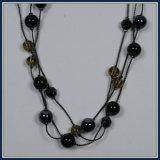 Neue Feld-Entwurfs-Glasraupe-elegante Form-Halsketten-Schmucksachen