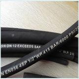 Tubo flessibile di gomma ad alta pressione a spirale collegare/dell'acciaio, 4sh tubo flessibile, tubo flessibile 4sp