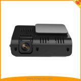 "2 "" рекордер автомобиля DVR камеры экрана LCD двойной с VGA HD 1080P 720p, 170° Камера черточки широкоформатного объектива"