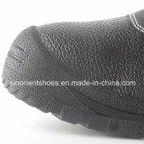 Zapatos de la seguridad en el trabajo del cuero partido con la punta de acero Snb1261