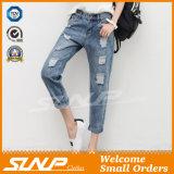 Pantaloni del Jean delle donne &Ripped Stratch di Strench di modo della via noni