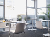 Uispair modernes 100% rundes Büro-Ausgangsstahlhotel-lebenEsszimmer-Schlafzimmer-Möbel-Kaffeetisch