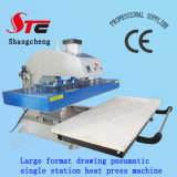 Format 큰 Automatic T-Shirt Heat Transfer Machine 50*120cm Pneumatic Drawing Heat Press Machine Single Station T Shirt Printing Transfer Machine Stc Qd08