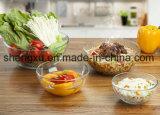 Ciotola di insalata di vetro del pavone di 100% del diamante trasparente privo di piombo di disegno Sx-025