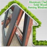 De alta calidad de la rotura térmica de aluminio Awing Ventana, aleación de aluminio Asas de madera de aluminio Ventana Toldo