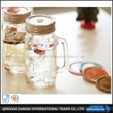 Buntes geprägtes Glasmaurer-Glas mit Griff