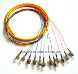 Sm FC/PC 0.9mm 1.5m 12 Cores Bandles Pigtails (de schakelaar van multi-Kernen)
