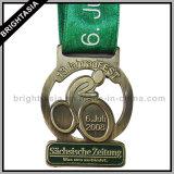 Medaille de van uitstekende kwaliteit van het Metaal van het Sleutelkoord voor Sport (byh-10348)