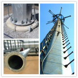 Torretta d'acciaio tubolare galvanizzata di telecomunicazione dei Pali del TUFFO caldo