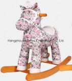 Balancim de balanço do Cavalo-Cavalo da alta qualidade com flor cor-de-rosa