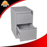Bajo cabinete de archivo costo del metal de 2 cajones del diseño original estupendo de la calidad