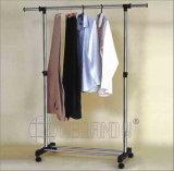 Estante de acero de la percha de ropa de la ropa de la Doble-Barra robusta de DIY