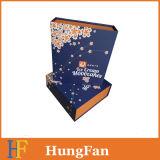 Contenitore di regalo di carta di lusso con l'inserto della falda nella figura del libro