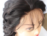 아기 머리를 가진 가득 차있는 레이스 사람의 모발 가발