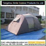 Barraca de acampamento ao ar livre impermeável feita sob encomenda da família da camada dobro