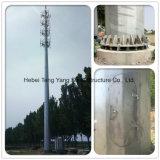 Tour en acier de télécommunications de mât d'antenne à hyperfréquences du Vietnam Monopoles