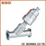 A Tri-Braçadeira termina a válvula de globo de Pneomatic do aço inoxidável