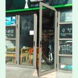 Graues Farben-Puder-überzogene doppelte Aluminiumflügelfenster-Tür, Aluminiumtür, Tür K06008