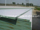 ISO9001: Möbel Grade E1 Glue Solid Wood Grain Color 100% Poplar 1220*2440mm Melamine Mositure Proof Green MDF 2008 Board