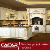 Retorno do gabinete de cozinha luxuoso da madeira contínua do rei II (CA14-03)