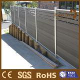 Zaun der einfache Installations-hölzerner Plastikzusammensetzung-WPC mit Aluminiumpfosten